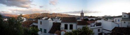 Sun sets over Cortes de la Frontera