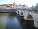 Tiberius bridge in Rimini's old town
