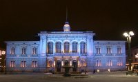 Tampere Town Hall by night Copyright City of Tampere Jari Makinen