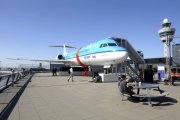 Schiphol Airport outside viewing gallery with Fokker