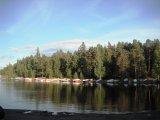 Take a sauna then swim in the lake