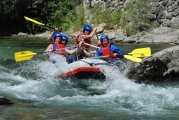 Camp Menina rafting on the Savinja River