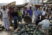A fruit and vegetable market in Dhaka, Bangladesh