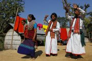 Tribal dancing in the Bandarban Hills, Bangladesh