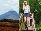Bridge on Mombacho volcano nature trail walk