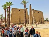 Egyptian Schoolkids at Luxor Temple