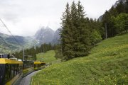 Mountain railway near Interlaken
