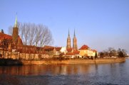 View of Wroclaw Cathedral across the River Oder Jo Caird