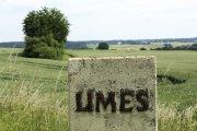 Sign for the Limes near at the Limes Park Rainau at Rainau Schwabsberg