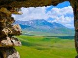 Mountain in Cloud Through wall