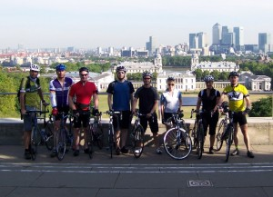 Arriving in Paris on London to Paris cycle challenge