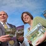 CADWYN CLWYD.  Pictured is Cllr Matt Wright and Keira Derbighshire from Cadwyn Clwyd. CEIDIOG COMMUNICATIONS STORY.
