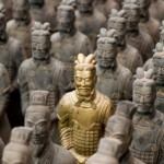 Replica Terracotta Warriors near Xian in Shaanxi province, China.  Original Warriors - [url=file_closeup.php?id=4597152][img]file_thumbview_approve.php?size=3&id=4597152[/img][/url] [url=file_closeup.php?id=4484726][img]file_thumbview_approve.php?size=3&id=4484726[/img][/url] [url=file_closeup.php?id=4597176][img]file_thumbview_approve.php?size=3&id=4597176[/img][/url] [url=file_closeup.php?id=4484566][img]file_thumbview_approve.php?size=3&id=4484566[/img][/url]