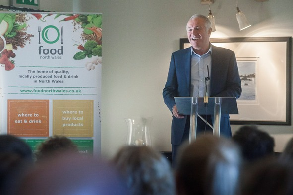food North Wales Forum at Bodnant Welsh Food. Pictured is Dewi Davies, TPNW